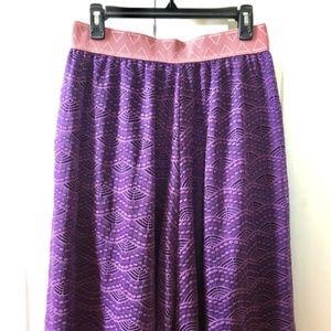 Purple/lace Lularoe Lola skirt